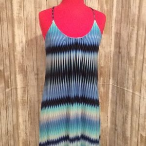 "LIKE NEW, ""CYNTHIA ROWLEY"" STRETCH, MAXI DRESS"